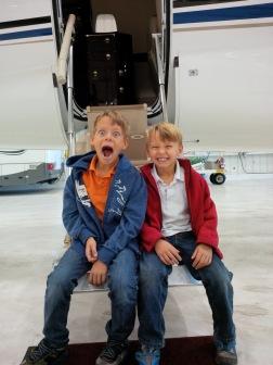 Oom Mark's airplane!